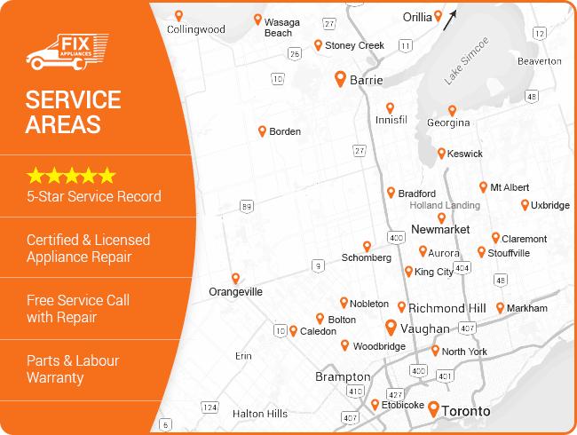 Fix Appliance CA service area