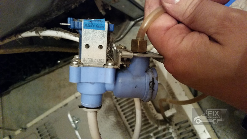 leaking fridge water valve replacement