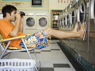 washing machines through binoculars